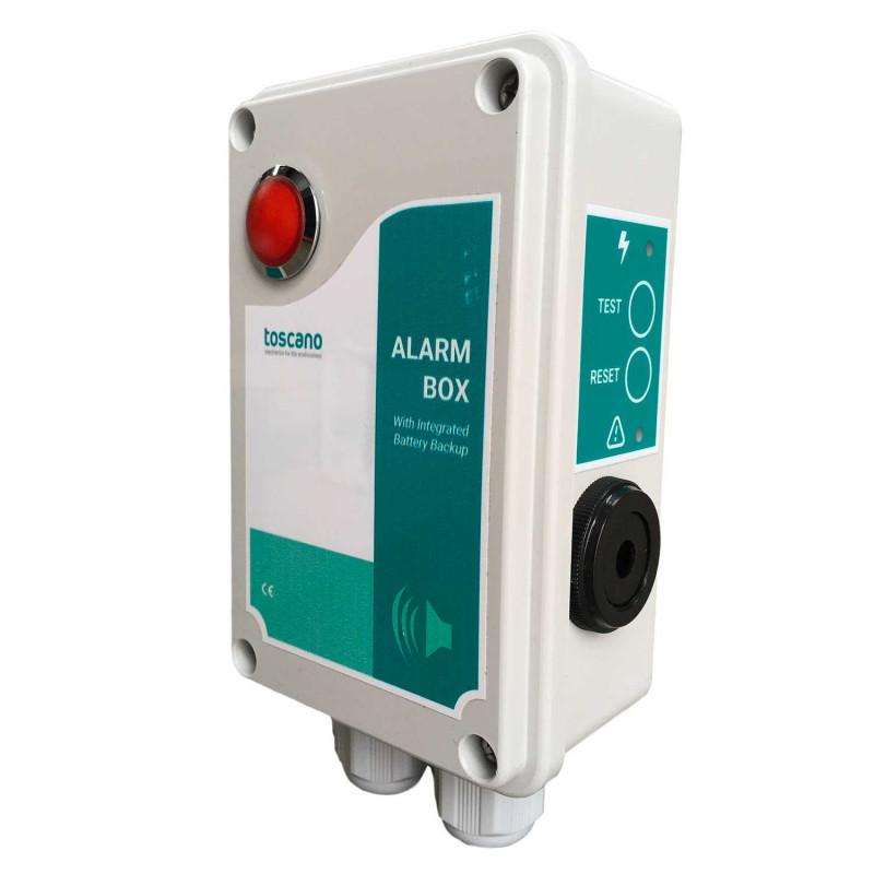 Boitier alarme sonore 90dB mono 230V avec voyant