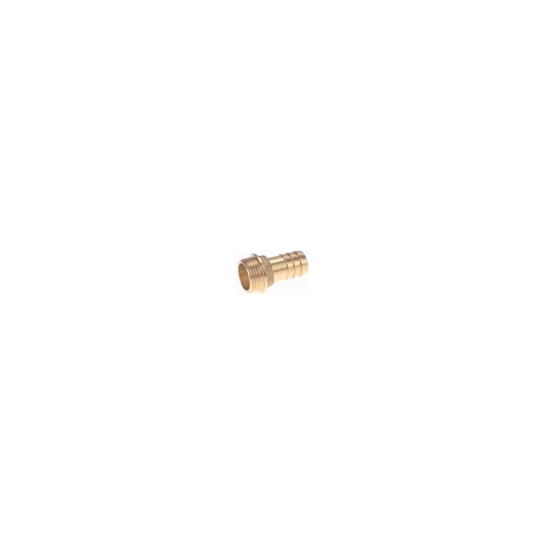 Raccord laiton cannelé embout mâle 3', cannelure Ø76