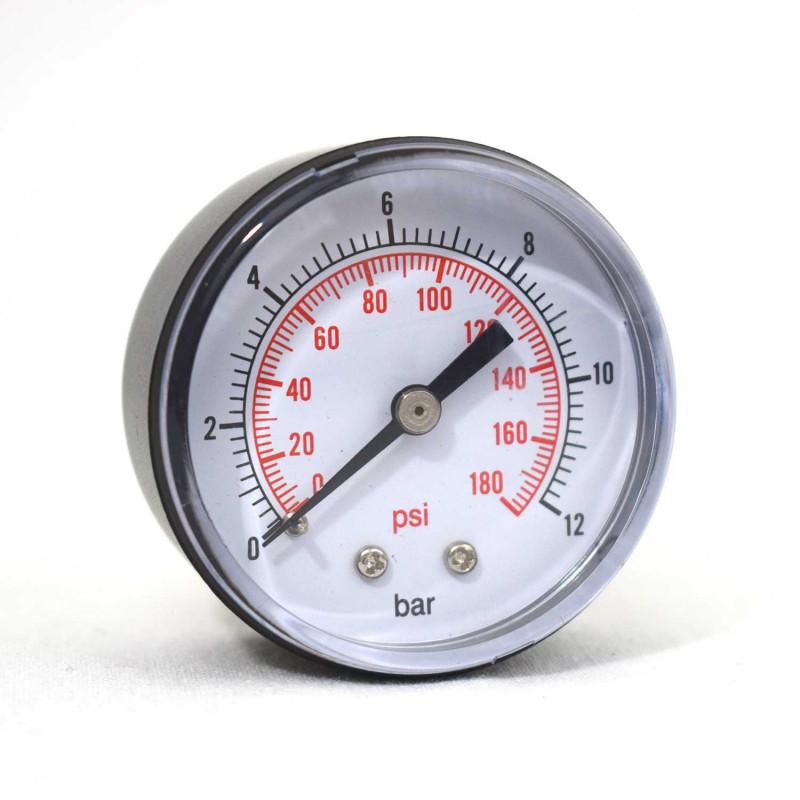 """Manomètre sec Axial 0 - 12 bars 1/4"""" GAS"""